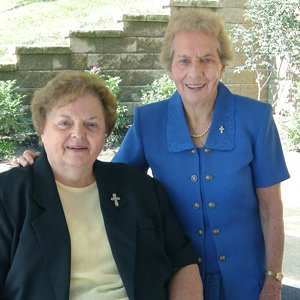 Sister Joan Mullen, SP and Sister Mary Caritas Geary, SP